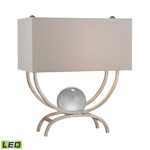 Dimond Lighting Dimond Lighting Silver Leaf LED Table Lamp with Rectangle Shade D2687-LED