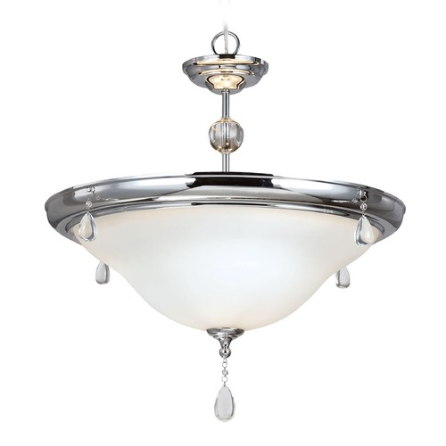 Sea Gull Lighting Sea Gull Lighting West Town Chrome Pendant Light with Bowl / Dome Shade 6510503-05