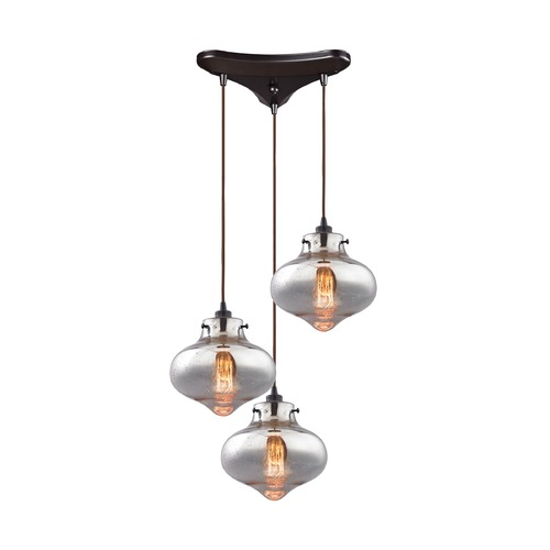 Elk Lighting Mercury Glass Multi-Light Pendant Oil Rubbed Bronze Elk Lighting 31955/3
