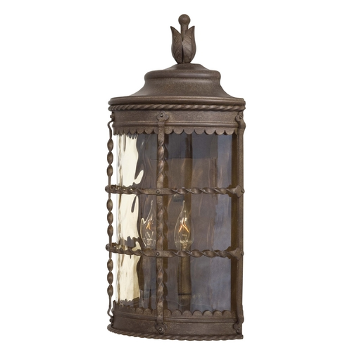 Minka Lavery Outdoor Wall Light with Clear Glass in Vintage Rust Finish 8887-A61