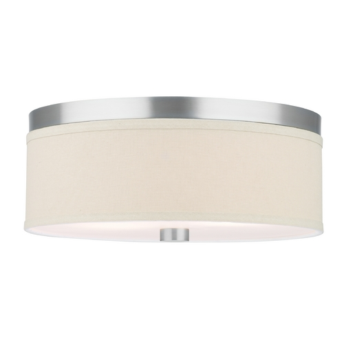 Philips Lighting Modern Flushmount Lights in Satin Nickel Finish F131836