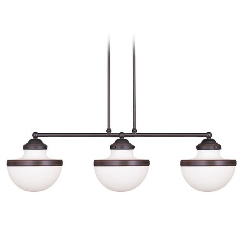 Livex Lighting Livex Lighting Oldwick Olde Bronze Island Light with Bowl / Dome Shade 5718-67