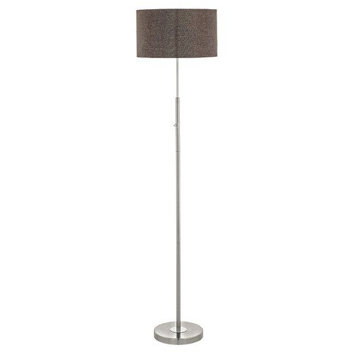 Eglo Lighting Eglo Romao 2 Satin Nickel / Chrome LED Floor Lamp with Drum Shade 95344A
