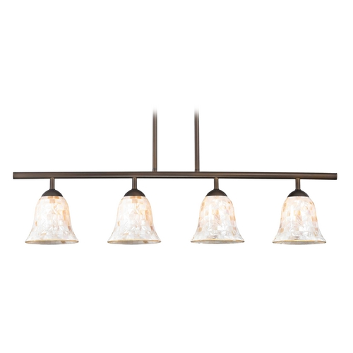 Design Classics Lighting Island Light with Beige / Cream Glass in Neuvelle Bronze Finish 718-220 GL9222-M