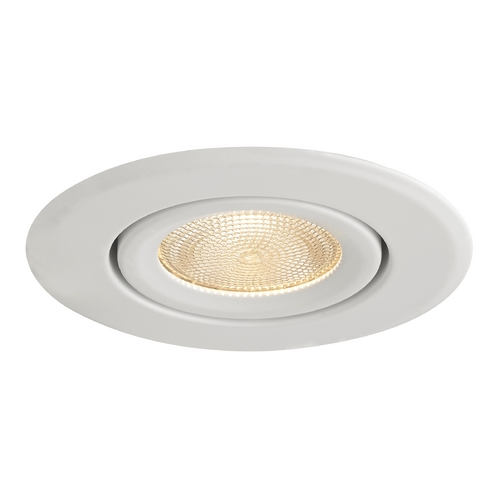 Recesso Lighting by Dolan Designs White Adjustable Surface Gimbal PAR20 Trim for 4-Inch Recessed Cans T410W-WH