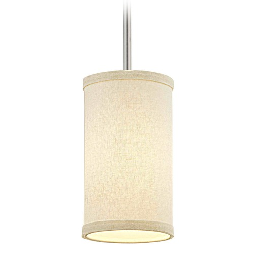 Design Classics Lighting Milo Satin Nickel Mini-Pendant Light with Cylindrical Shade 6542-09 SH9673 KIT