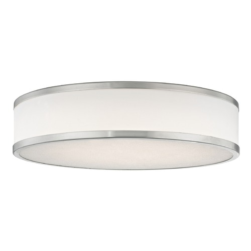 Design Classics Lighting LED Flush Ceiling Light Satin Nickel White Acrylic Shade 16-Inch 5016-9030T16-09