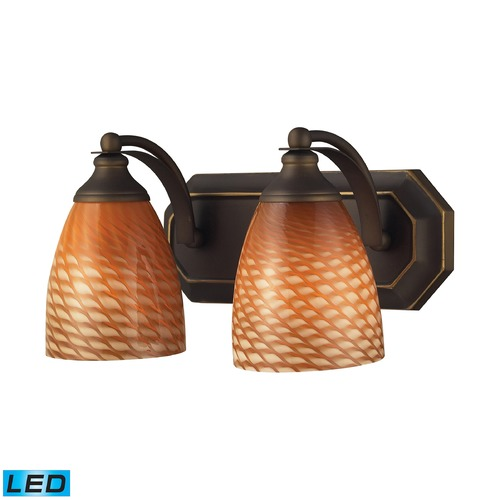 Elk Lighting Elk Lighting Bath and Spa Aged Bronze LED Bathroom Light 570-2B-C-LED