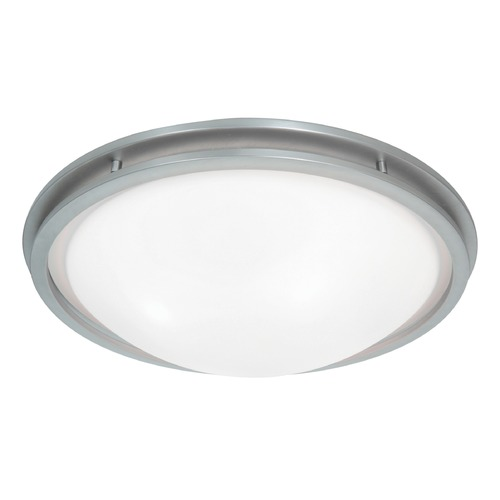 Access Lighting Access Lighting Aztec Brushed Steel Flushmount Light 20457GU-BS/WHT