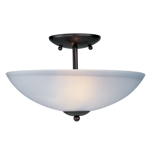 Maxim Lighting Maxim Lighting Logan Oil Rubbed Bronze Semi-Flushmount Light 10042FTOI