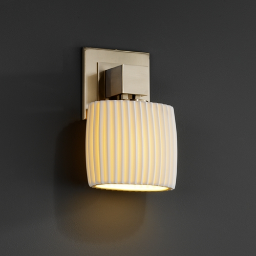 Justice Design Group Justice Design Group Limoges Collection Sconce POR-8707-30-PLET-NCKL