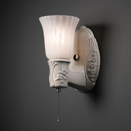 Justice Design Group Plug-In Wall Lamp in Sienna Brown Crackle Finish CER-7121-CKS