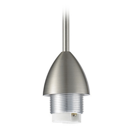 WAC Lighting Wac Lighting Brushed Nickel Rail Head QP-501-BN
