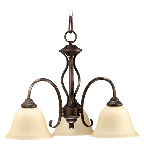 Quorum Lighting Quorum Lighting Spencer Oiled Bronze Mini-Chandelier 6410-3-86
