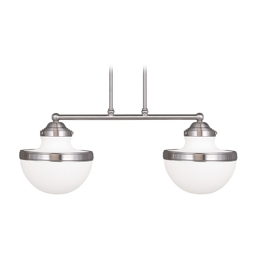 Livex Lighting Livex Lighting Oldwick Brushed Nickel Island Light 5717-91