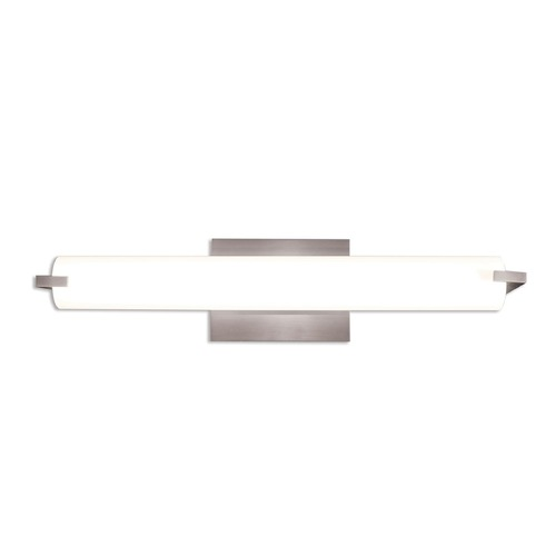 Illuminating Experiences Elf Satin Nickel LED Bathroom Light - Vertical or Horizontal Mounting ELF2LED