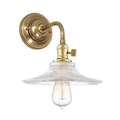Hudson Valley Lighting Hudson Valley Lighting Heirloom Aged Brass Sconce 8000-AGB-GS6