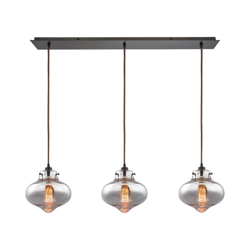 Elk Lighting Elk Lighting Kelsey Oil Rubbed Bronze Multi-Light Pendant with Bowl / Dome Shade 31955/3LP