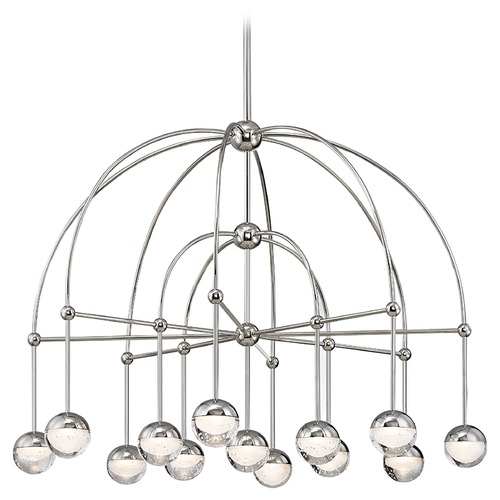 Hudson Valley Lighting Mid-Century Modern Chandelier LED 13-Lt Polished Nickel by Hudson Valley 1233-PN