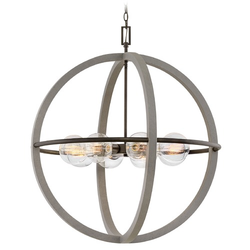 Hinkley Hinkley Bodie Dark Cement / Bronze Chandelier 3428DC