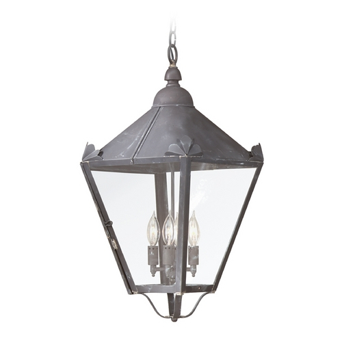 Troy Lighting Outdoor Hanging Light with Clear Glass in Natural Rust Finish F8948NR