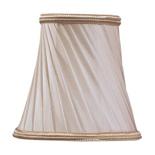 Metropolitan Lighting Eggshell with Gold Trim Bell Lamp Shade with Clip-On Assembly SH1929