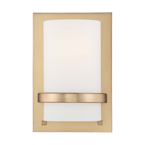 Minka Lavery Sconce Wall Light with White Glass in Honey Gold Finish 342-248
