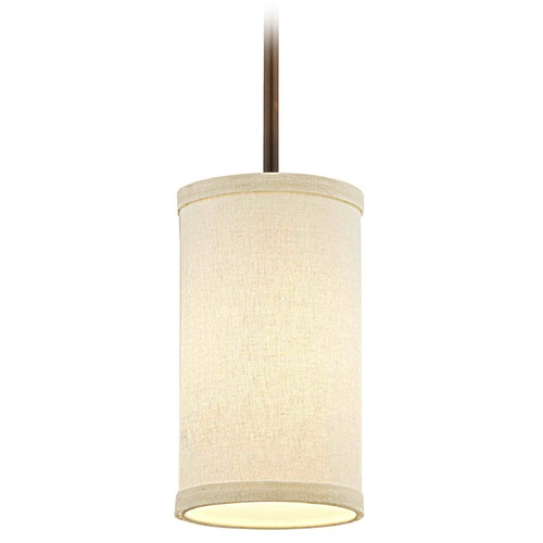 Design Classics Lighting Milo Bronze Mini-Pendant Light with Cylindrical Shade 6542-604 SH9673  KIT