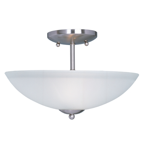 Maxim Lighting Maxim Lighting Logan Satin Nickel Semi-Flushmount Light 10042FTSN