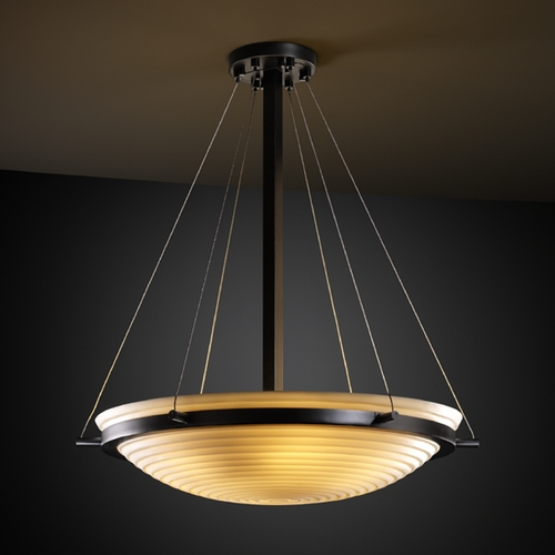 Justice Design Group Justice Design Group Porcelina Collection Pendant Light PNA-9691-35-SAWT-MBLK