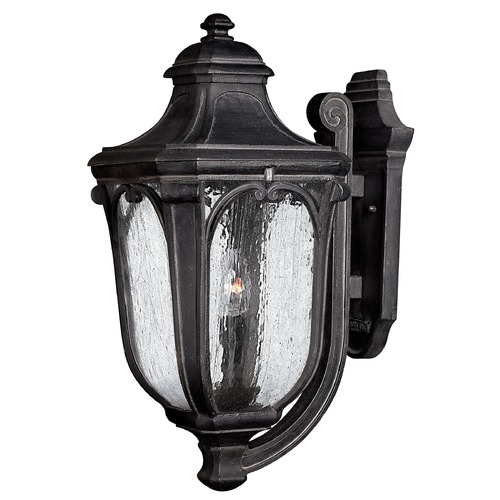 Hinkley Lighting Outdoor Wall Light with Clear Glass in Museum Black Finish 1315MB