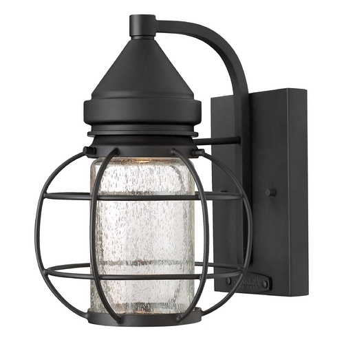 Hinkley Lighting Outdoor Wall Light with Clear Glass in Black Finish 2250BK