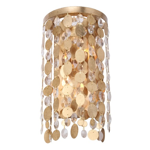 Crystorama Lighting Crystorama Lighting Bella Antique Gold Sconce 561-GA