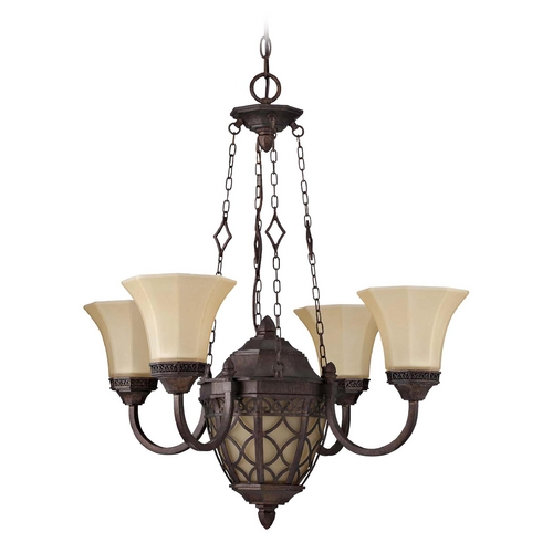 Jeremiah Lighting Jeremiah Lighting Evangeline Peruvian Bronze Chandelier 36424-PR
