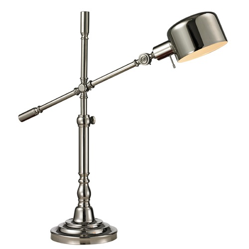 Dimond Lighting Dimond Lighting Polished Nickel Table Lamp with Drum Shade D2432