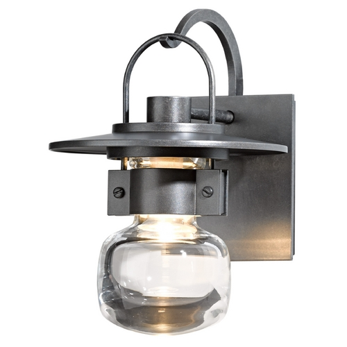 Hubbardton Forge Lighting Hubbardton Forge Lighting Mason Burnished Steel Outdoor Wall Light 303001-SKT-08-ZM0435