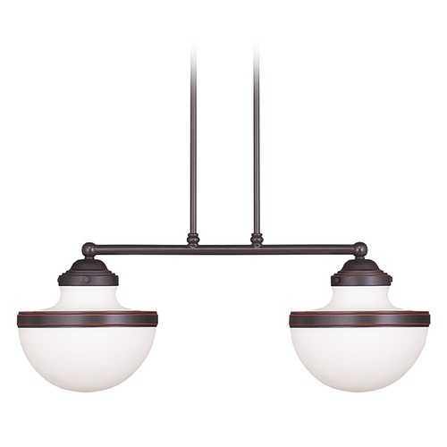 Livex Lighting Livex Lighting Oldwick Olde Bronze Island Light with Bowl / Dome Shade 5717-67