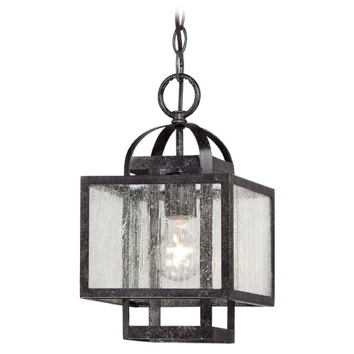 Minka Lavery Minka Camden Square Aged Charcoal Mini-Pendant Light with Square Shade 4879-283