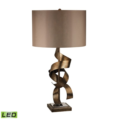 Dimond Lighting Dimond Lighting Roxford Gold LED Table Lamp with Drum Shade D2688-LED