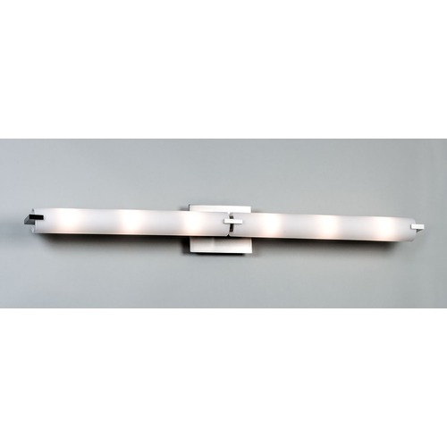 Illuminating Experiences Elf Satin Nickel LED Bathroom Light - Vertical or Horizontal Mounting ELF3LED