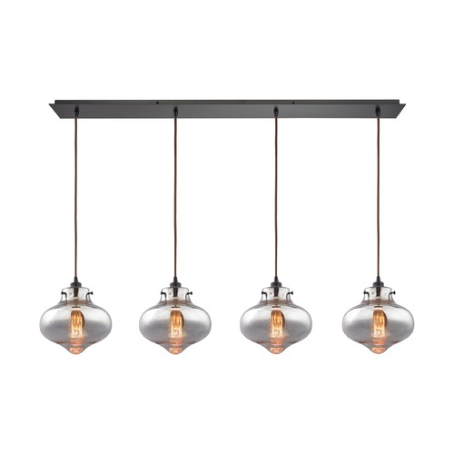 Elk Lighting Elk Lighting Kelsey Oil Rubbed Bronze Multi-Light Pendant with Bowl / Dome Shade 31955/4LP