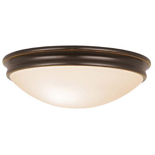 Access Lighting Modern Flushmount Light with White Glass in Oil Rubbed Bronze Finish 20724-ORB/OPL