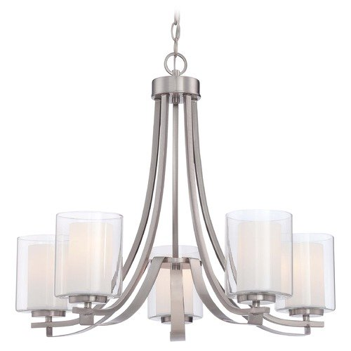Minka Lavery Minka Parsons Studio Brushed Nickel Chandelier 4105-84