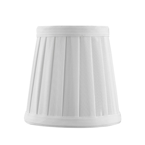 Design Classics Lighting Clip-On Empire Pleated White Lamp Shade SH9616
