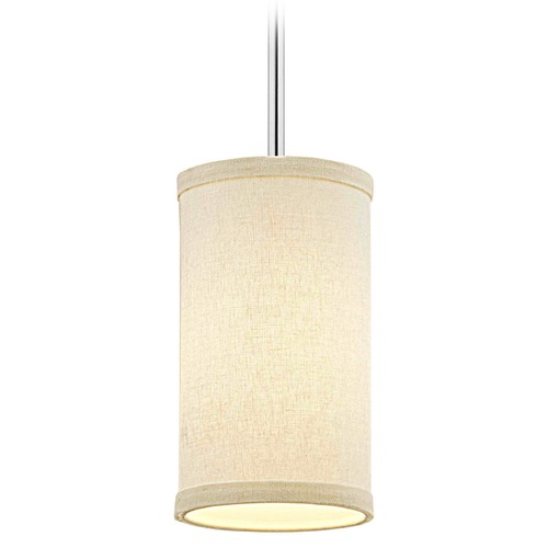 Design Classics Lighting Milo Slim Chrome Mini-Pendant Light with Cylindrical Shade 6542-26 SH9673 KIT
