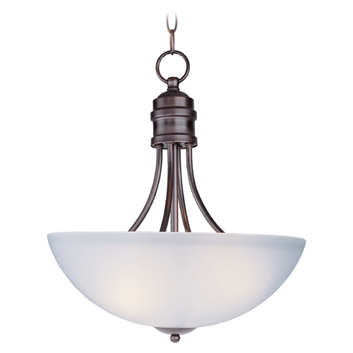 Maxim Lighting Maxim Lighting Logan Oil Rubbed Bronze Pendant Light with Bowl / Dome Shade 10044FTOI