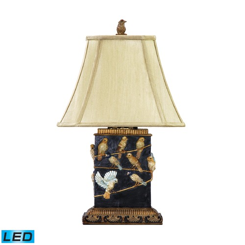 Dimond Lighting Dimond Lighting Black LED Table Lamp with Cut Corner Shade 93-530-LED