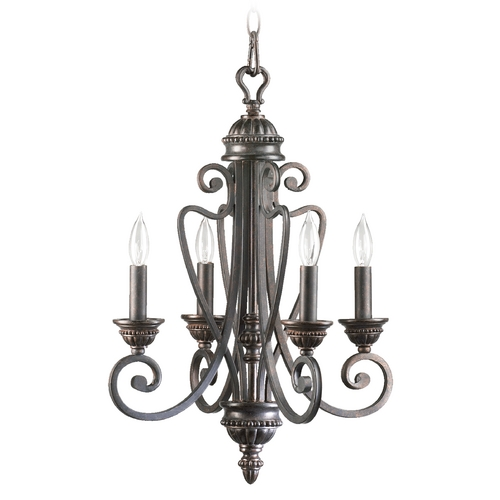 Quorum Lighting Quorum Lighting Summerset Toasted Sienna Mini-Chandelier 6126-4-44