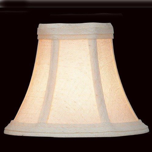 Lite Source Lighting Beige Bell Lamp Shade with Clip-On Assembly CH507-6/2PK