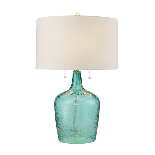 Dimond Lighting Dimond Lighting Seabreeze Blue Table Lamp with Drum Shade D2689